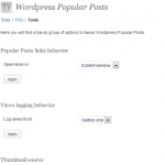 Рисунок 1. Внешний вид плагина Wordpress Popular Posts