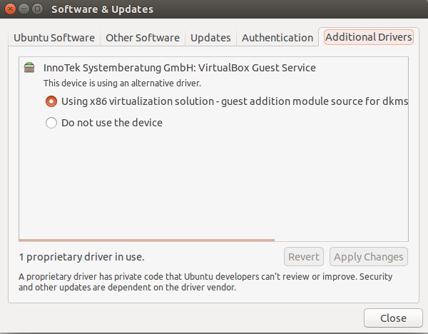 Рис.1. Using x86 virtualization solution – guest addition module source for dkms