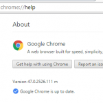 Версия Google Chrome